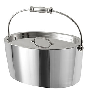 "10. Crafthouse by Fortessa 12"" x 5.25"" Stainless Steel Ice Bucket"