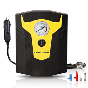 9. DBPOWER Black and Yellow Portable Air Compressor Pump