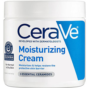 2. CeraVe Moisturizing Cream Daily Body and Face Moisturizer for all the Dry Skin