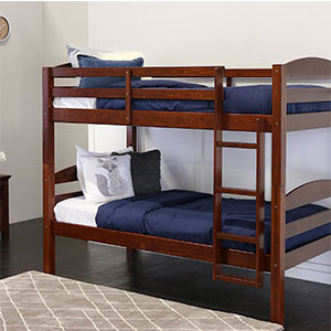 2. Walker Edison Twin Bunk Bed (Solid Wood)