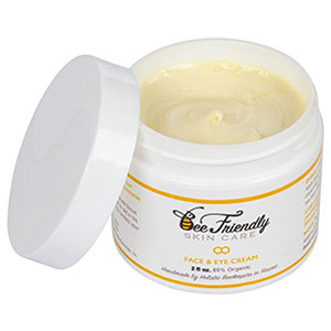7. BeeFriendly Eye and Face Cream 100% Natural and 85% Organic Moisturizer, All In One Neck, Face, Eye Decollete Cream