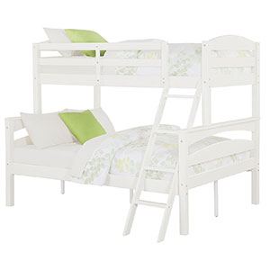 5. Dorel Living Brady Twin over Bunk Bed with Ladder
