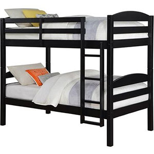 8. Mainstays Black Twin over Twin Bunk Bed