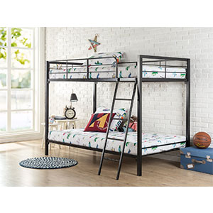 6. Zinus Quick Lock Twin over Twin Metal Bunk Bed