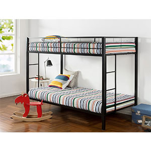 3. Zinus Quick Lock Bunk Bed (Twin over Twin)