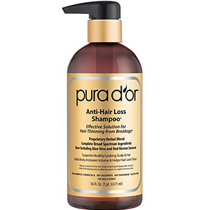 1. PURA D'OR 16 Fl Oz Anti-Thinning Shampoo