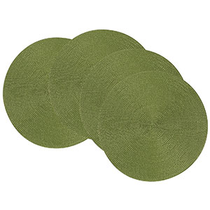 9. Now Designs Disko Set of 4 Round Placemats