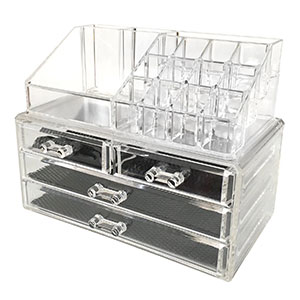1. Sodynee Cosmetic and Jewelry Storage Makeup Organizer