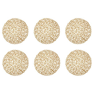 10. DII Round Woven Paper Set of 6 Placements