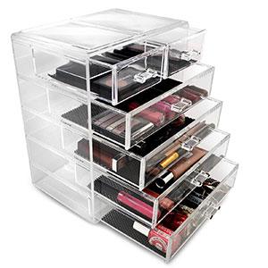 2. Sorbus Jewelry and Cosmetics Makeup Storage Case