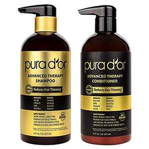 3. PURA D'OR 16 Fl Oz Shampoo & Conditioner