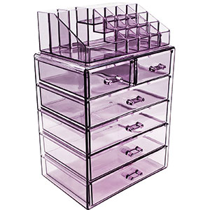4. Sorbus Acrylic Jewelry and Cosmetic Makeup Storage Case