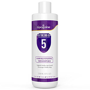 6. Lipoganie Hair Growth All Natural Shampoo (purple)