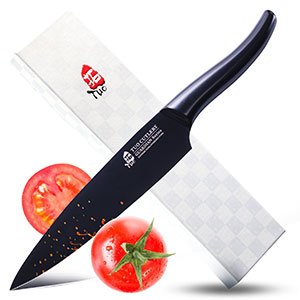 9. Tuo Cutlery Black Guardian Series Chef Knife