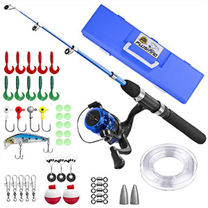 6. Plusinno Portable Telescoping Fishing Rod for Youth Fishing
