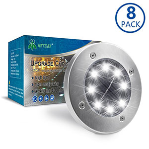 3. NETCAT Solar Lights with 8 LED
