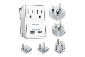 Travel Power Adapter with USB